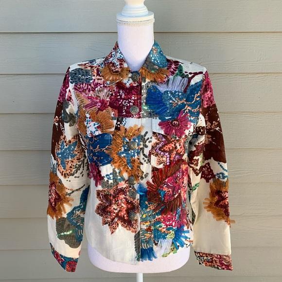 Sandy Starkman Jackets & Blazers - Beaded Boho Silk Sandy Starkman Jacket